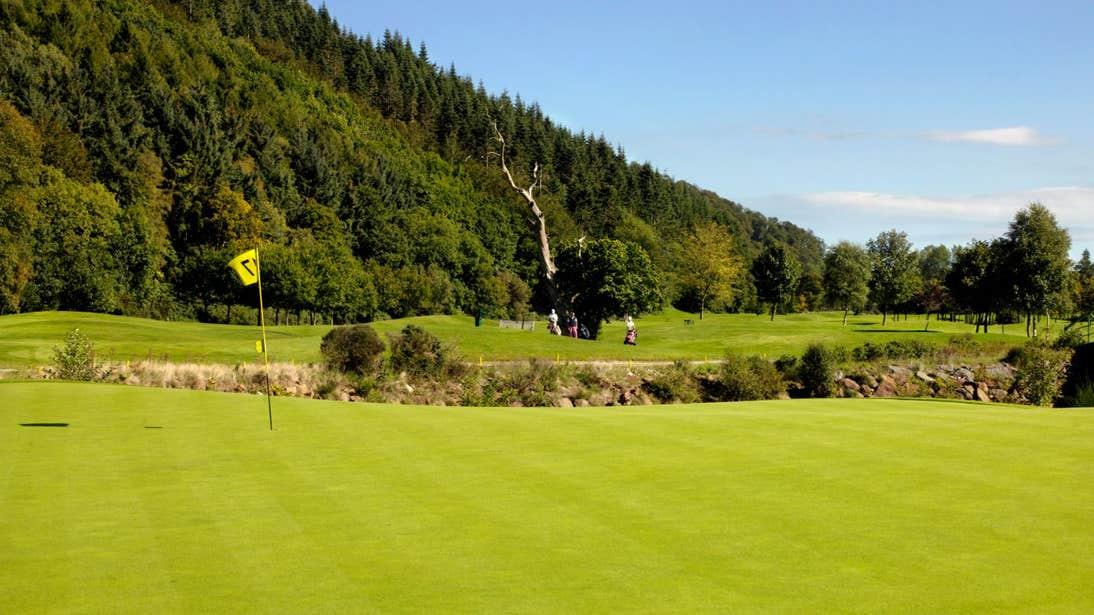 A green at Woodenbridge Golf Club, Avoca, Arklow, Co. Wicklow