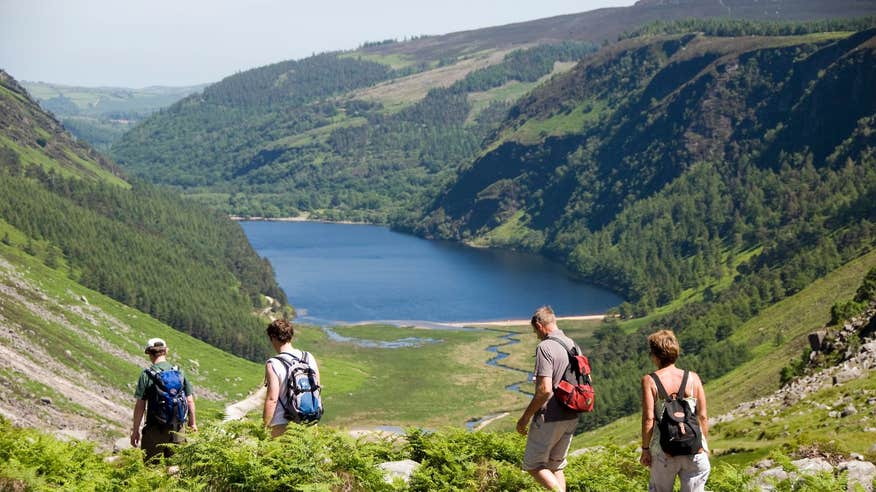 See the iconic Lough Tay on a hike along the Wicklow Way.