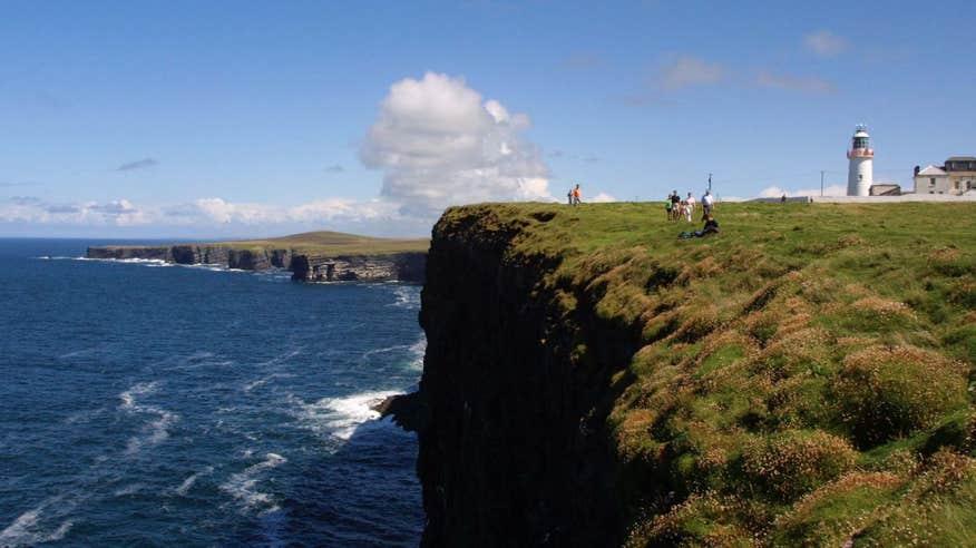Walk along the edge of the Atlantic on Loop Head.