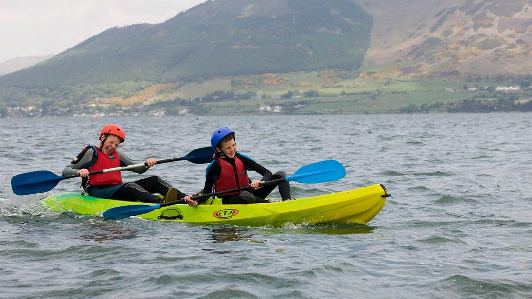 Two people kayaking at Carlingford Adventure Centre and Skypark, Co. Louth