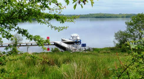 Image of a boat on the lake in County Leitrim