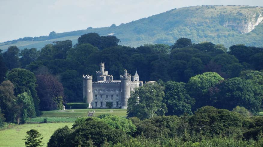 Tulynally Castle nestled in the lush woodland of Westmeath.