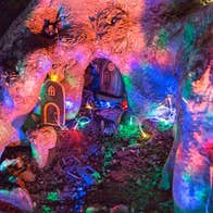 Fairy Doors and Fairy Lights in the Enchanted Garden Winter Light Festival Tramore