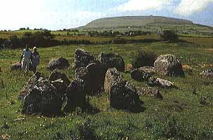 People walking in the Carrowmore Megalithic Cemetery