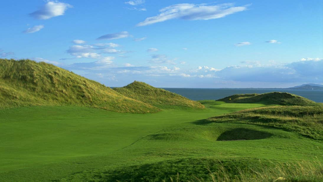 Green hills and blue skies at The European Club Brittas Bay County Wicklow