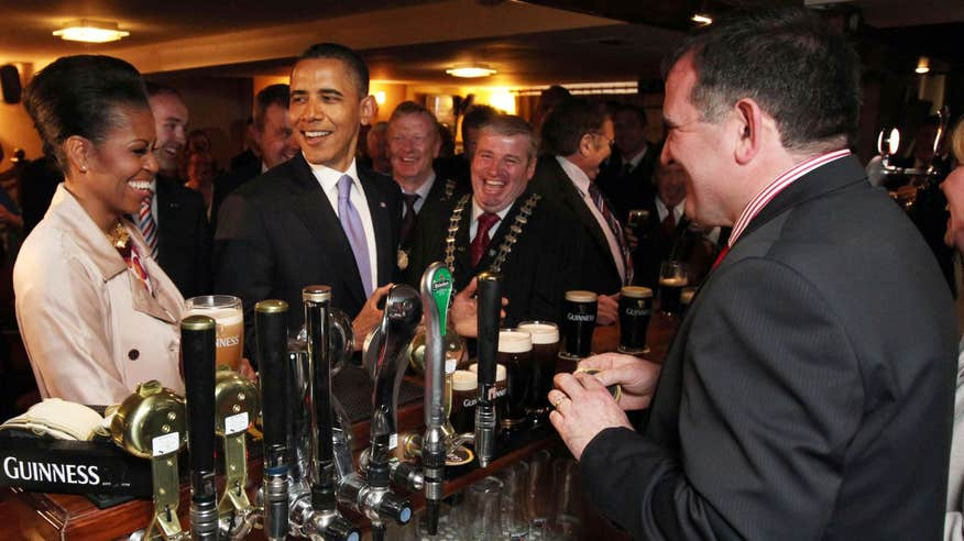 Barack Obama received a warm welcome to Moneygall in 2011.