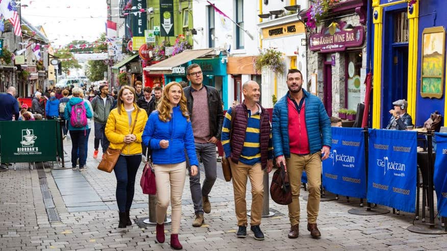 Explore the famous streets of Galway City.
