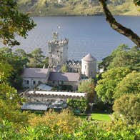A view of Glenveagh Castle and gardens within Glenveagh National Park and Castle