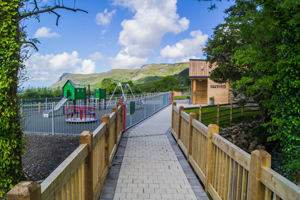 Image of pathway to teaSHED