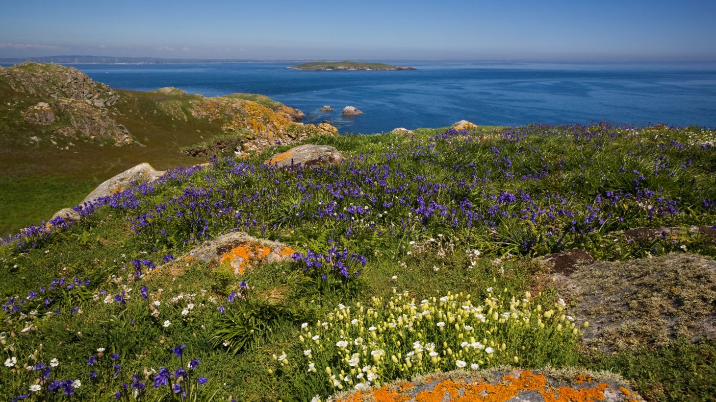 Visit Wexford and discover the coastal view of the Saltee Islands.