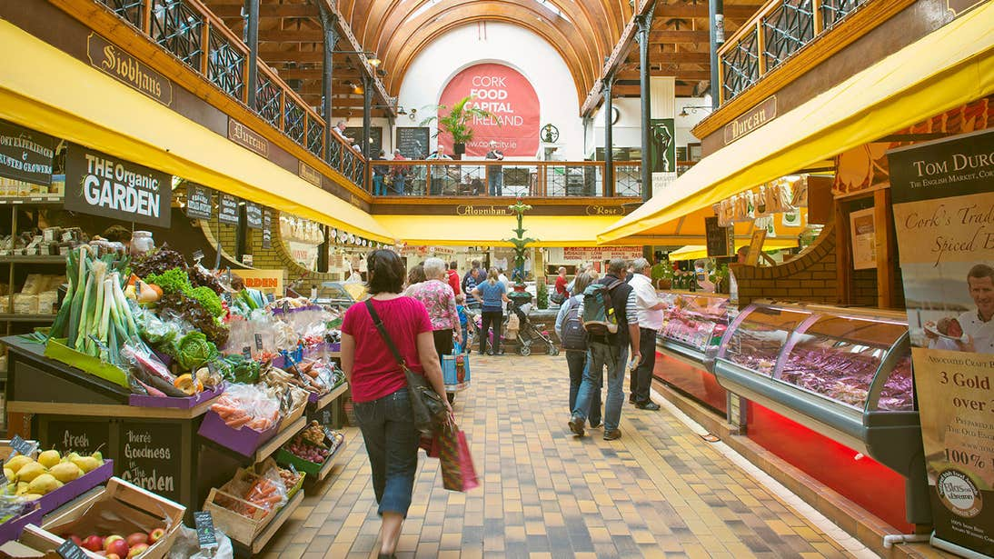 The interior of the English Market in Cork City