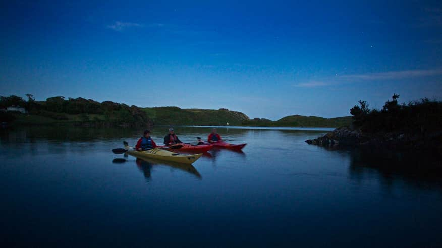 You'll never forget kayaking on Lough Hyne by moonlight.
