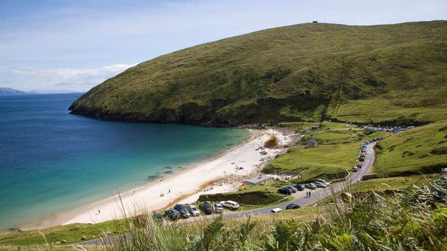 Take a dip at Keem Bay and revitalise yourself for the cycle back.