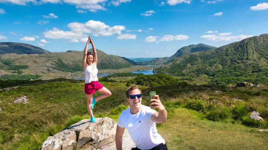 Pose for a snap at one of the many viewpoints along the Ring of Kerry.