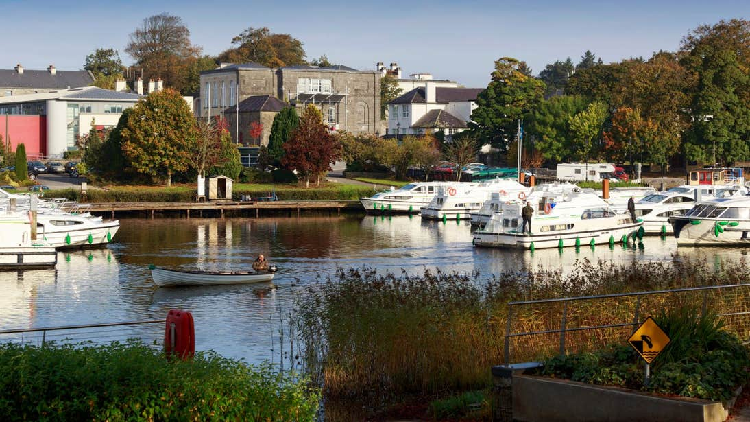 Boats in Carrick on Shannon Marina, County Leitrim