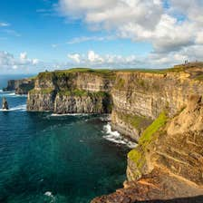 A view out over the stunning Cliffs of Moher, Clare