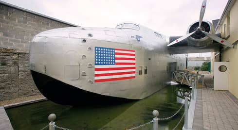 A close-up view of Foynes Flying Boat and Maritime Museum in County Limerick.