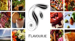 Flavour.ie logo and array of food