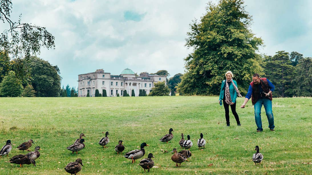 People on the grounds of Emo Court in County  Laois