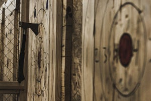 Axe throwing at Tom O'Hawks