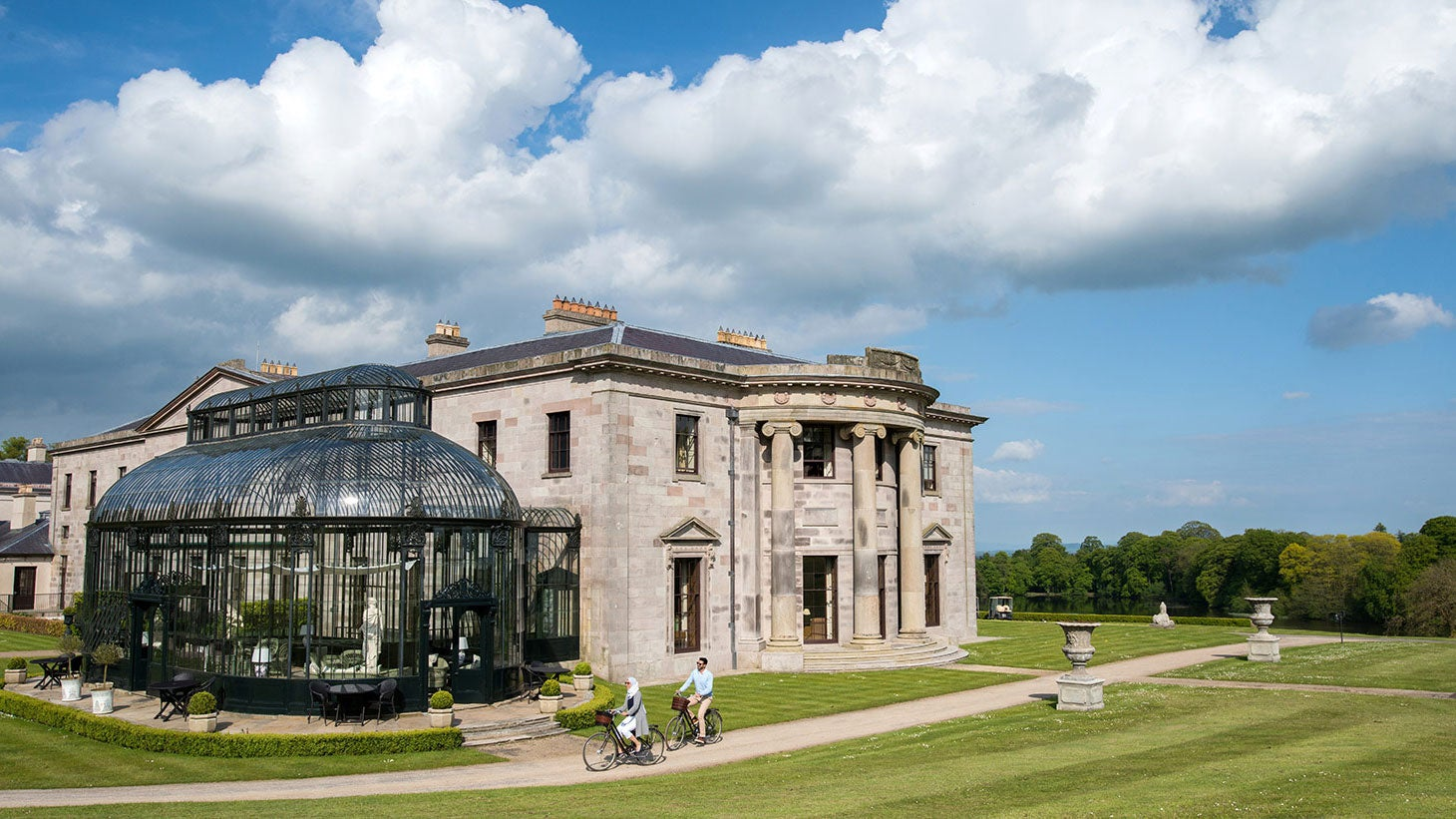 Enjoy luxurious Ballyfin Demesne.