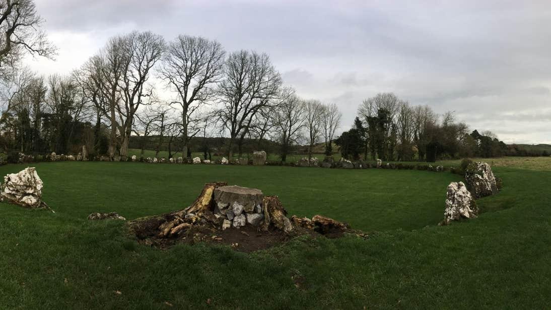 Grey skies at the Grange Stone Circle in Limerick