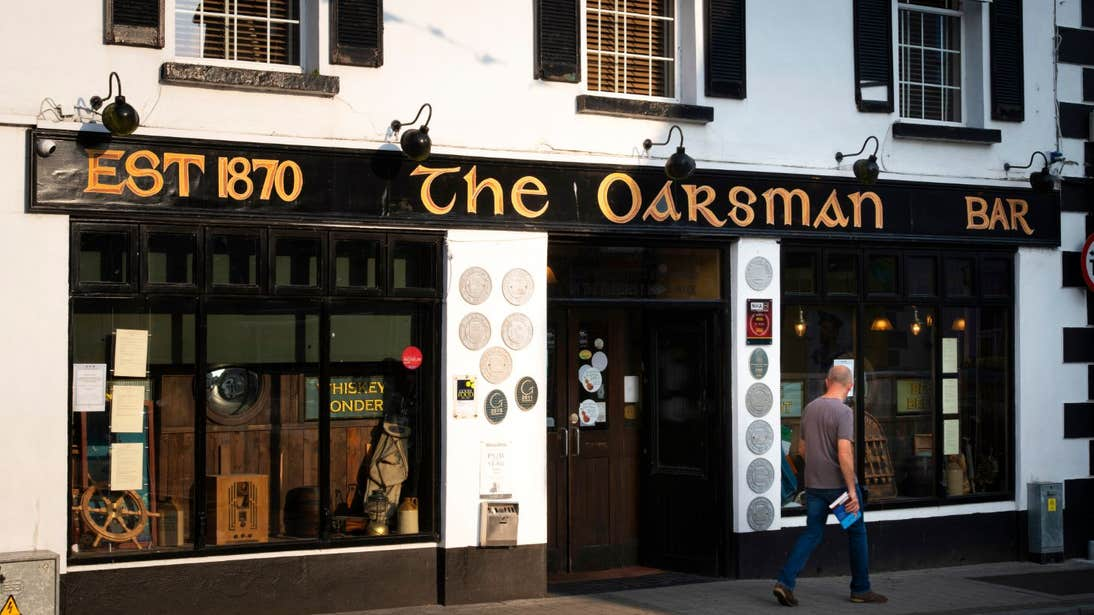 The exterior of The Oarsman Gastropub, Carrick-on-Shannon, County Leitrim