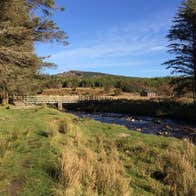 River, forest and mountains in Wild Nephin Ballycroy National Park, County Mayo