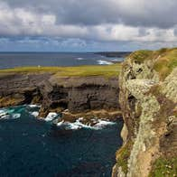 A cloudy day at the majestic Kilkee Cliffs