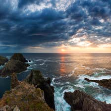 Image of Malin Head at sunset, Inishowen Peninsula, County Donegal