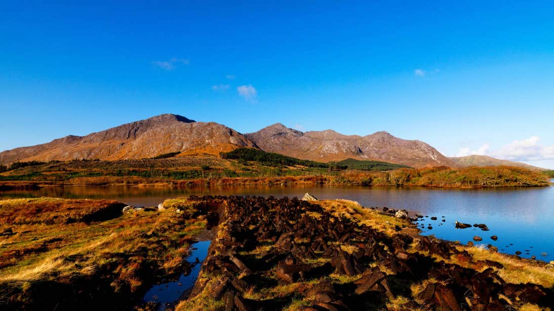 Take in the rust coloured landscape of Connemara National Park.