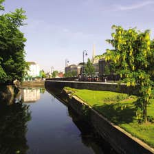 Image of the river in Carlow town in County Carlow