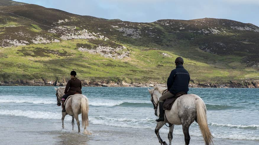 Experience the beauty of Ards Forest on horseback.