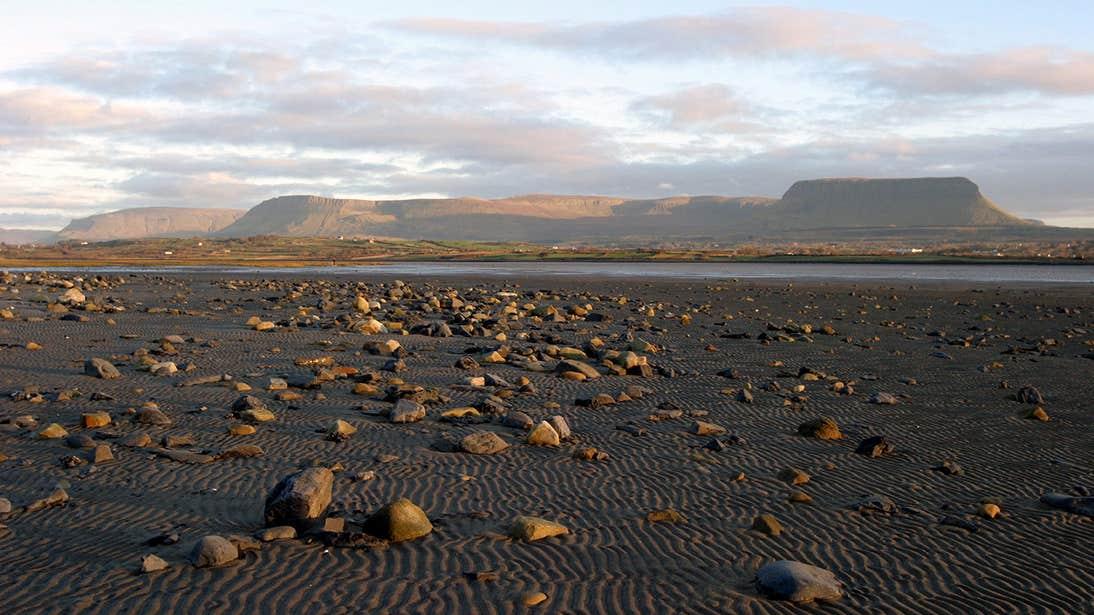 Streedagh Beach with Benbulben in the background, County Sligo