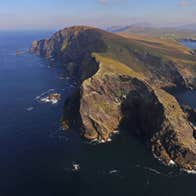 Aerial view of Bray Head, Valentia Island, County Kerry