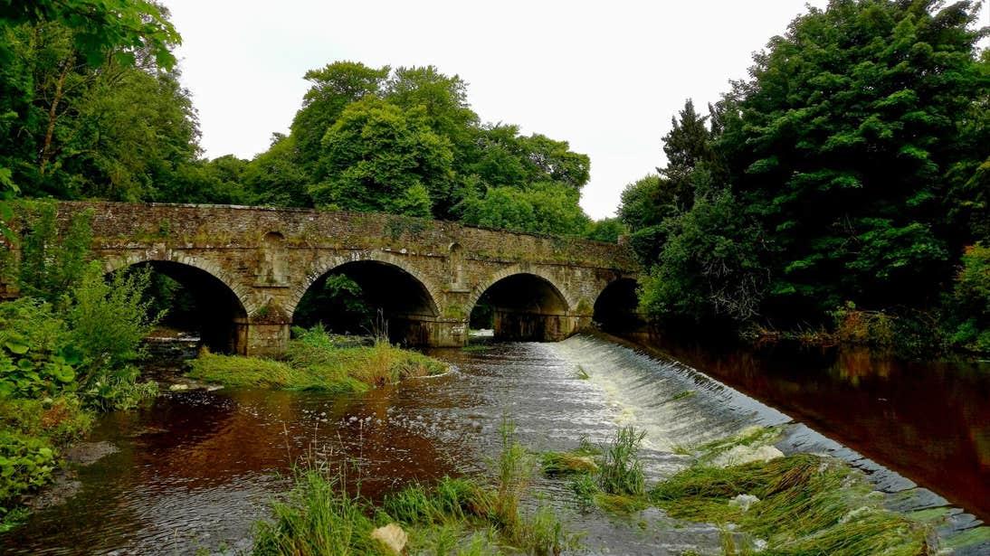 A bridge over a weir in Castlecomer, Kilkenny
