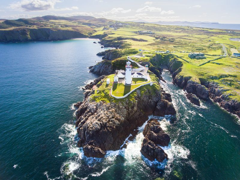 Fanad Head in Donegal has miles of golden, sandy beaches.
