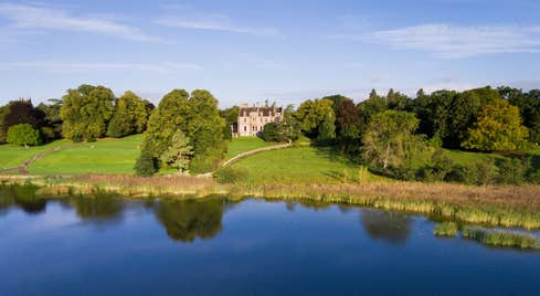 Trees and a lake at Castle Leslie, Co Monaghan