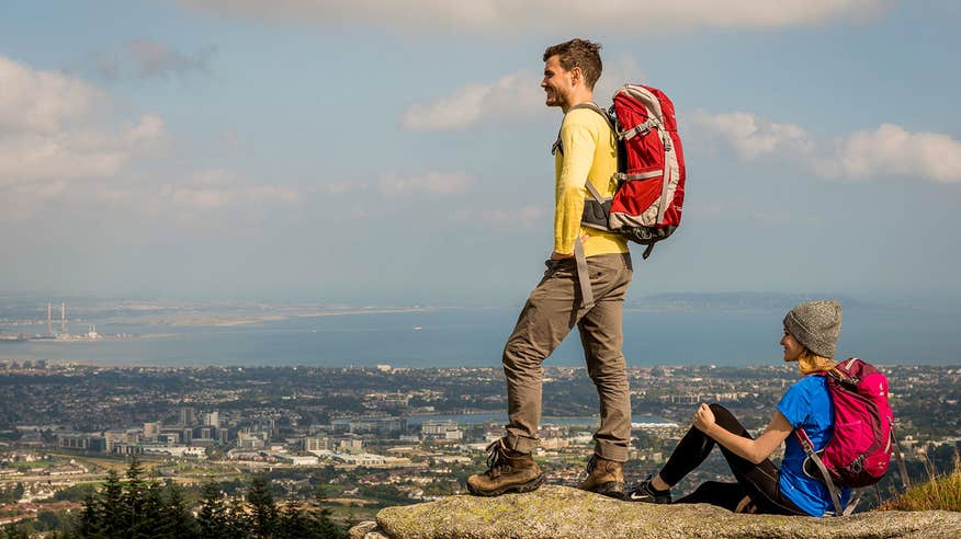 Take in the epic views from the Dublin Mountains.