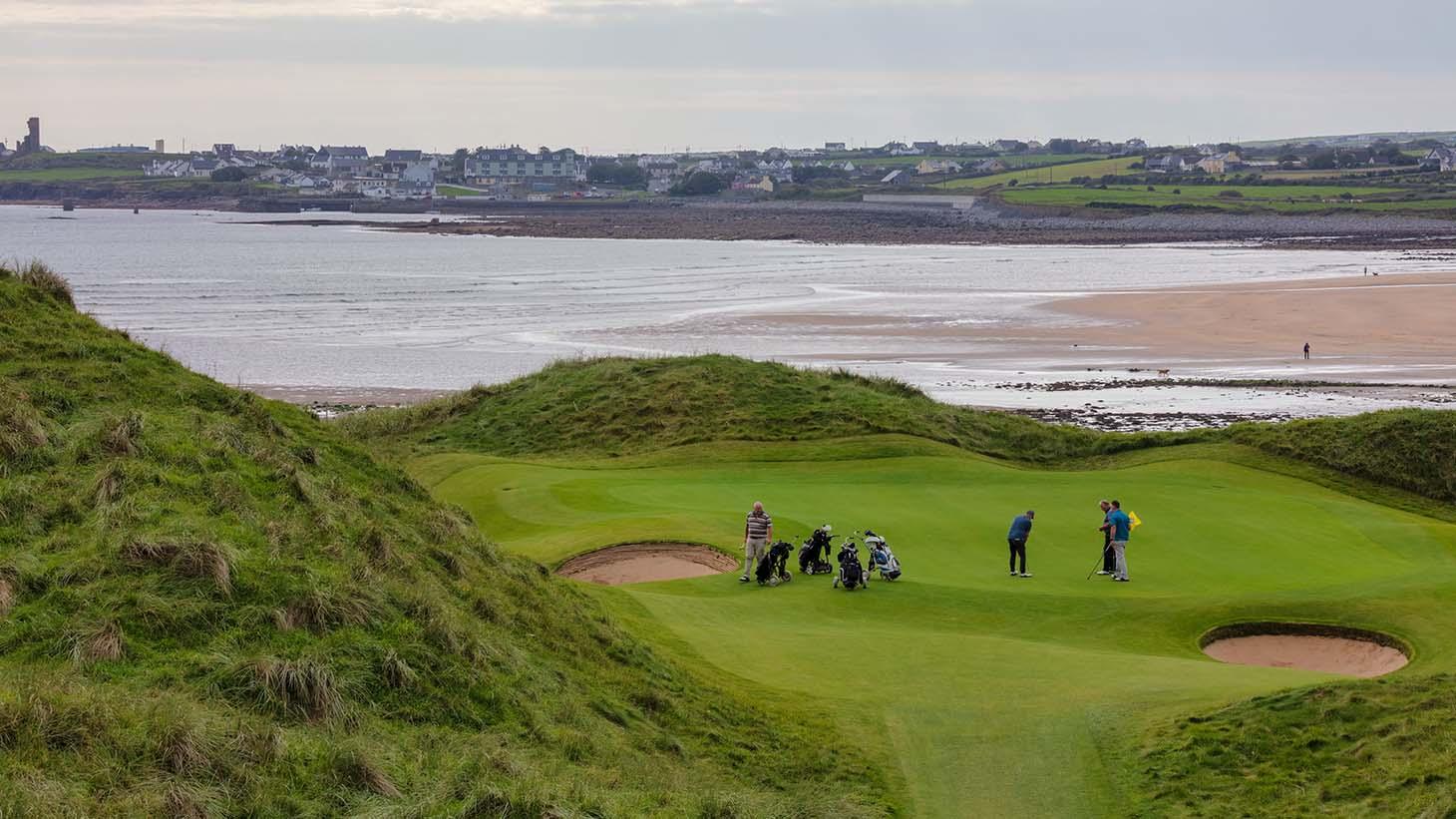 Lahinch Golf Club overlooking the Atlantic Ocean in County Clare
