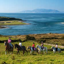 Image of people horse riding in Grange in County Sligo