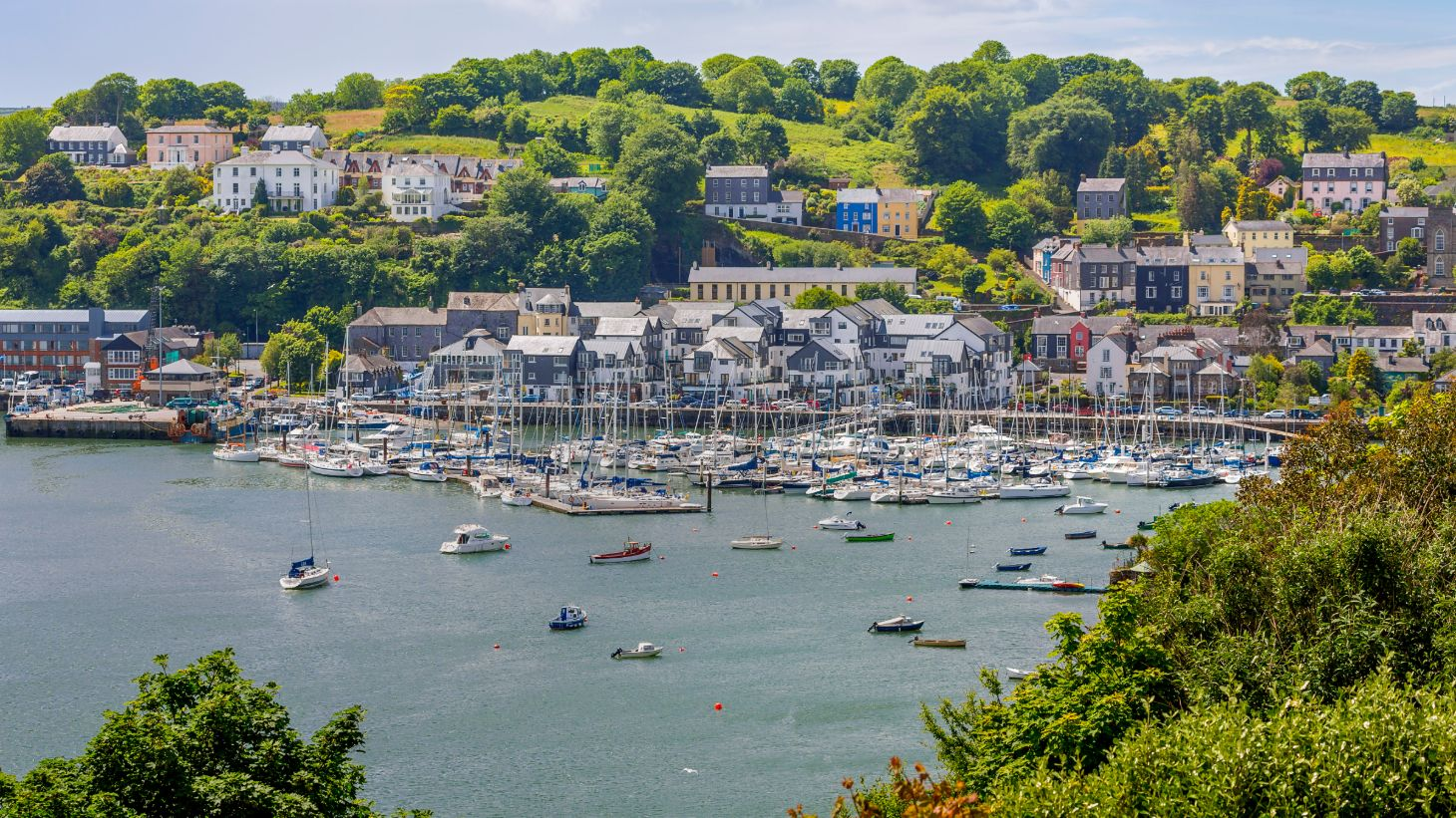 Check out colourful Kinsale Harbour.