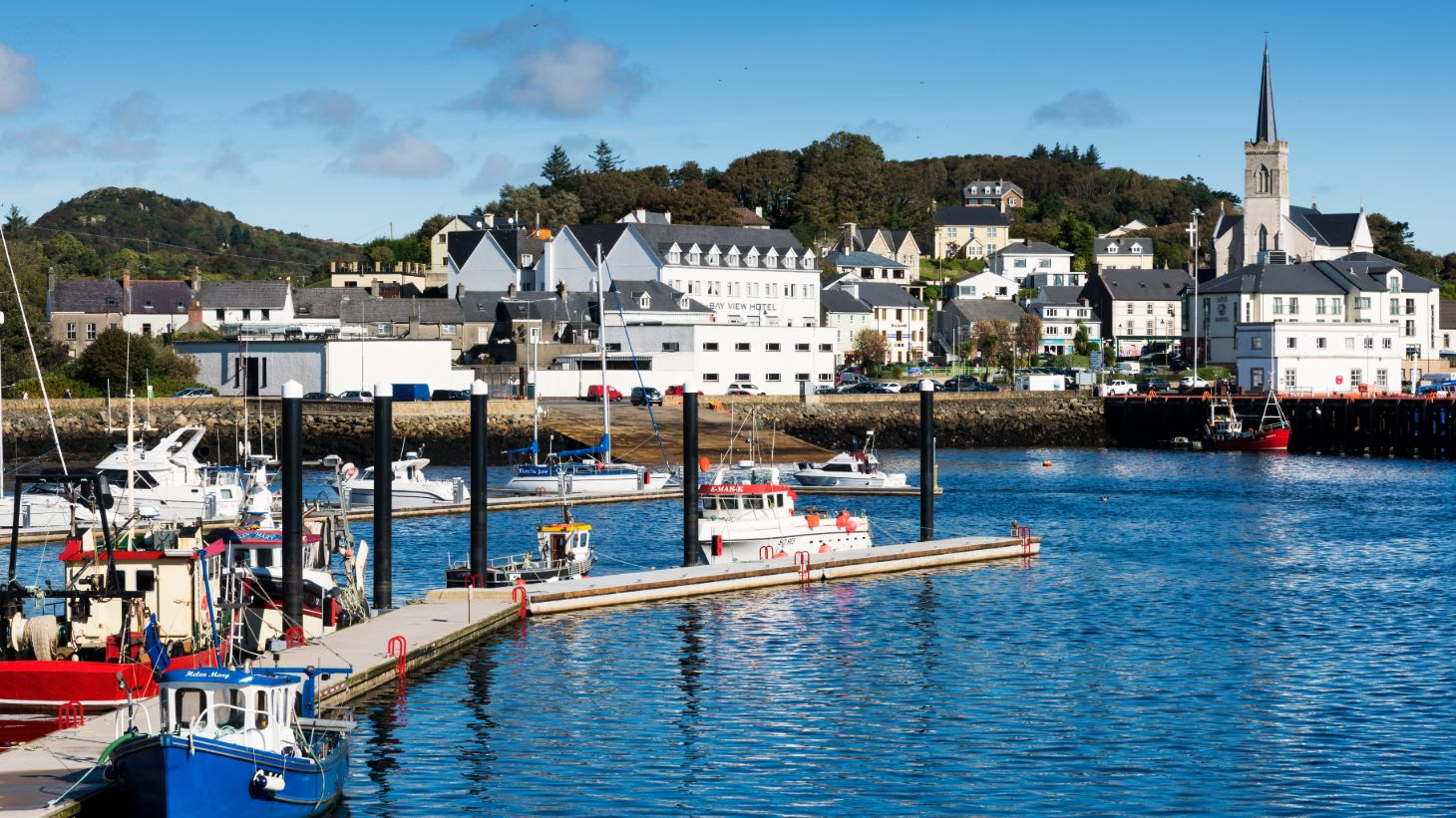 The beautiful harbour in Killybegs.