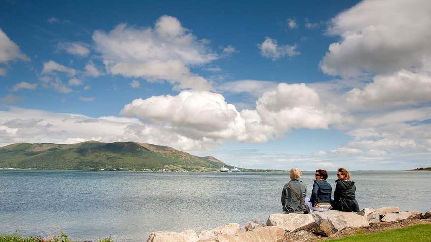 See the Mourne Mountains on a walk along the Carlingford Greenway.