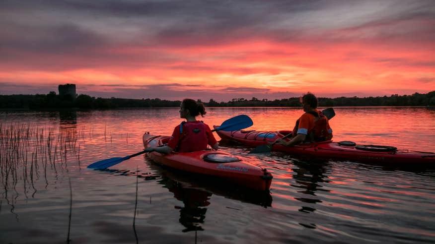 Take a kayak trip after your walk.