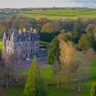 Aerial view over Blarney House and Gardens