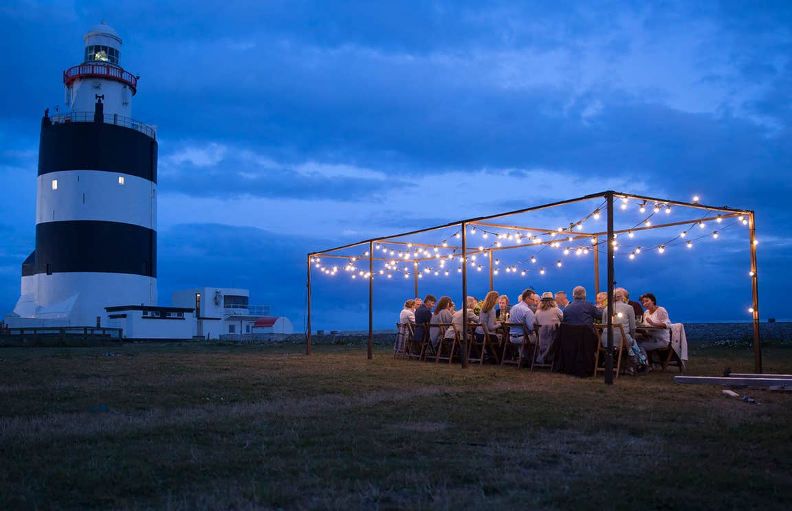 Dining al fresco at Hook Head Lighthouse, Co. Wexford