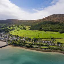An aerial image of Carlingford in County Louth