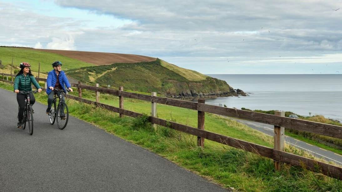 Cycling the Waterford Greenway at Dungarvan, County Waterford