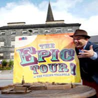Close up of the Epic Tour of the Viking Triangle logo with a local guide in Waterford city.